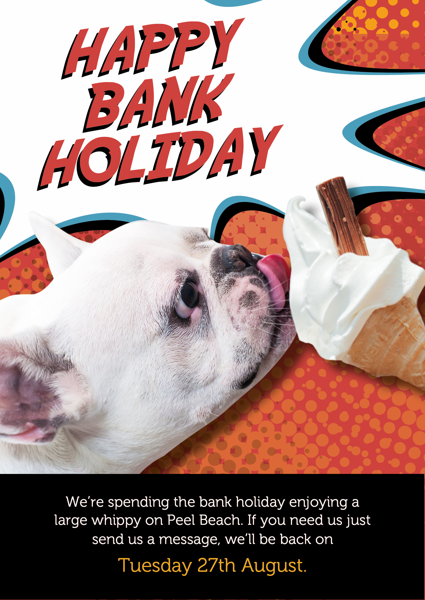 Sorry we're closed today enjoying the may May Bank holiday- we'll be back in business and happy to assist when we Tuesday 28th May.